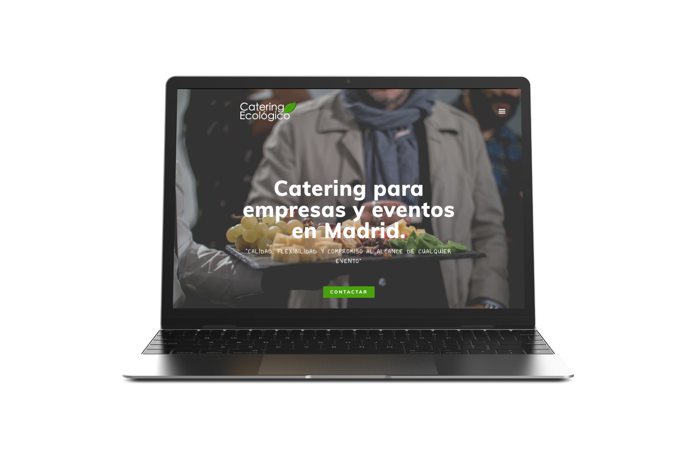 Catering Ecológico. Chop&Chop. Diseño web responsive. Yellow Room