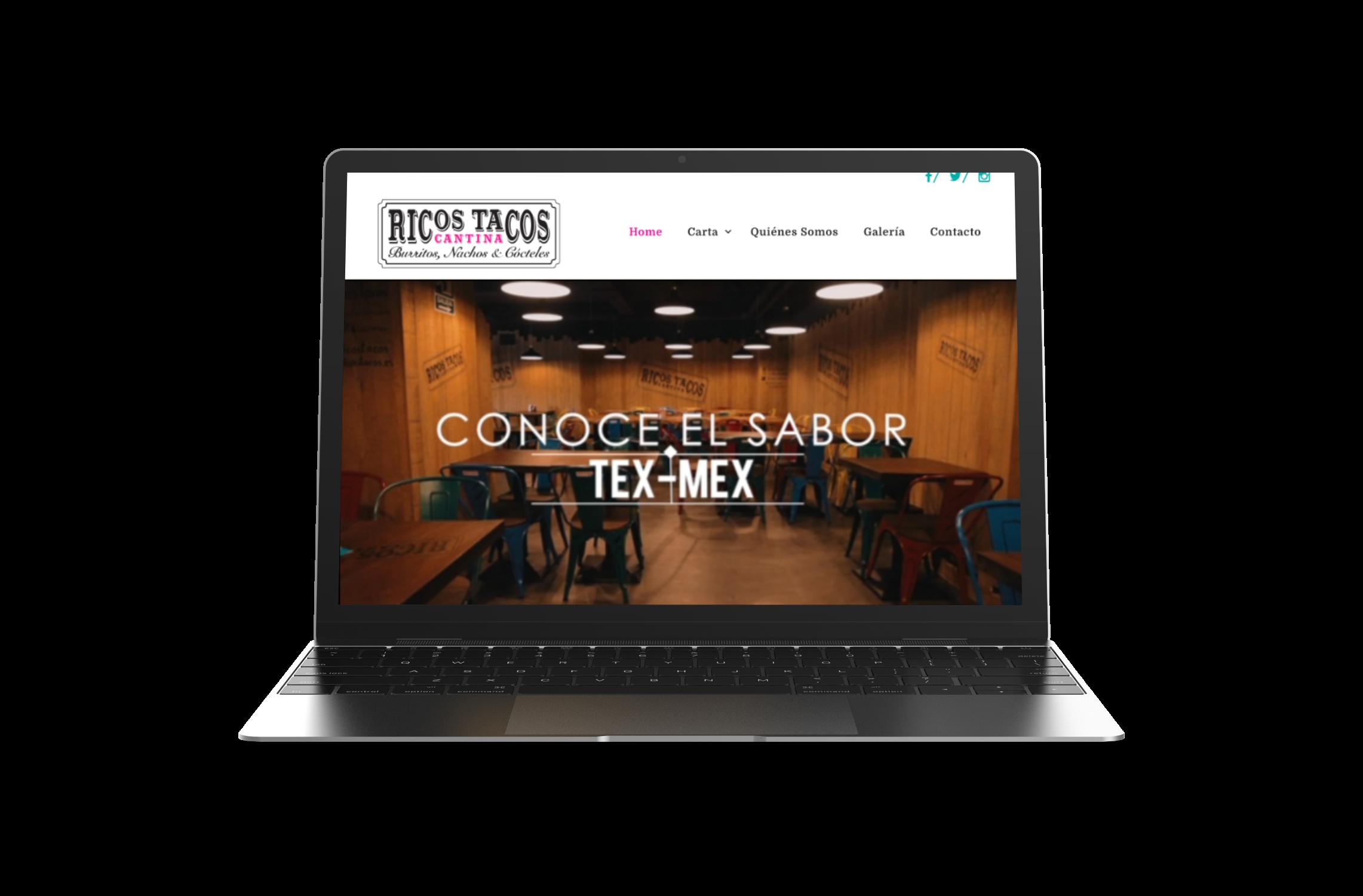Ricos Tacos. Chop&Chop. Diseño web responsive. Yellow Room