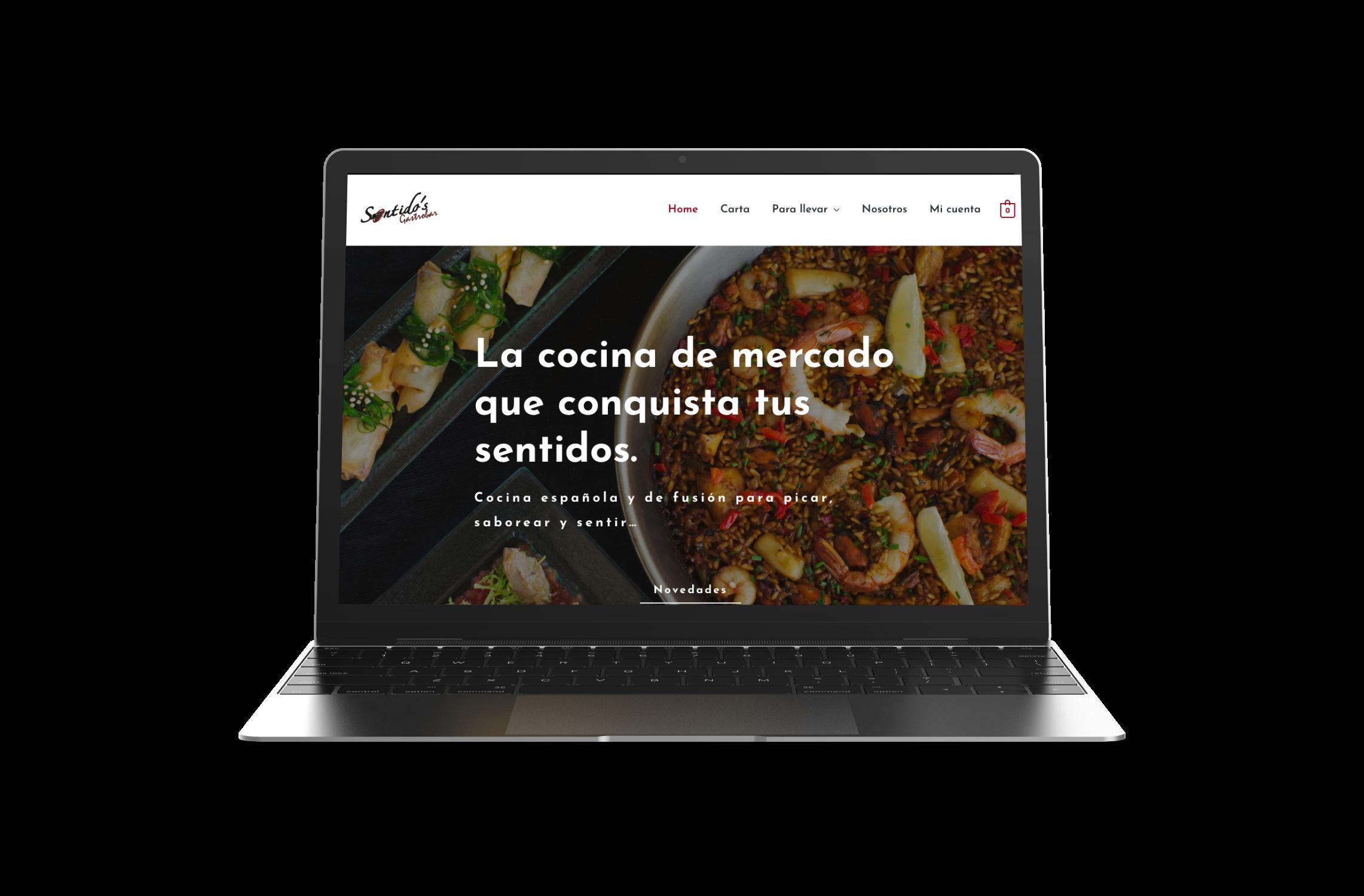 Sentido's Gastro Bar. Diseño web responsive. Yellow Room